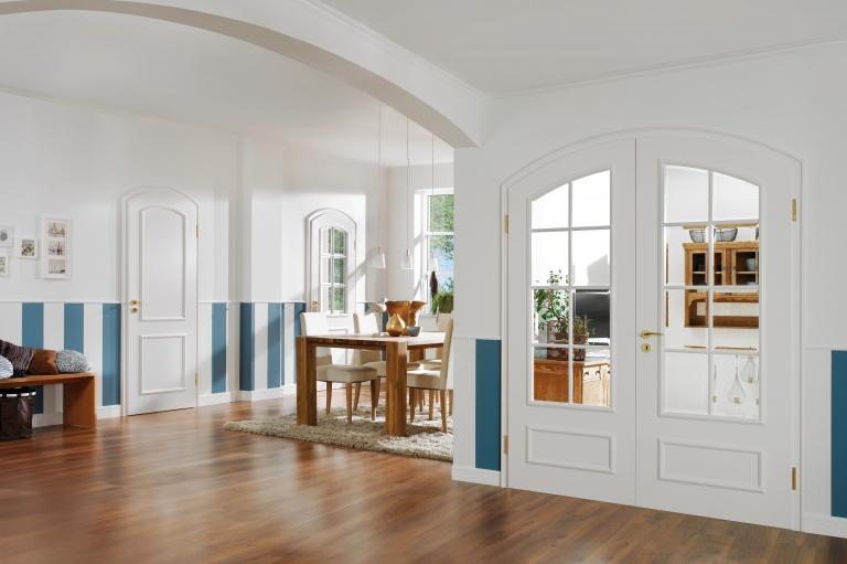 Glazed double Door White