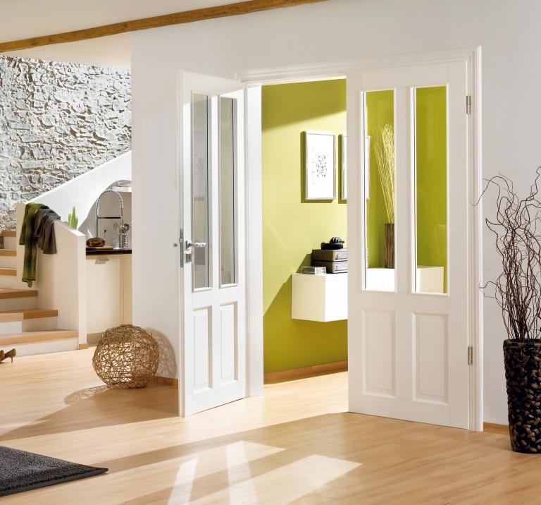 Glazed double door set