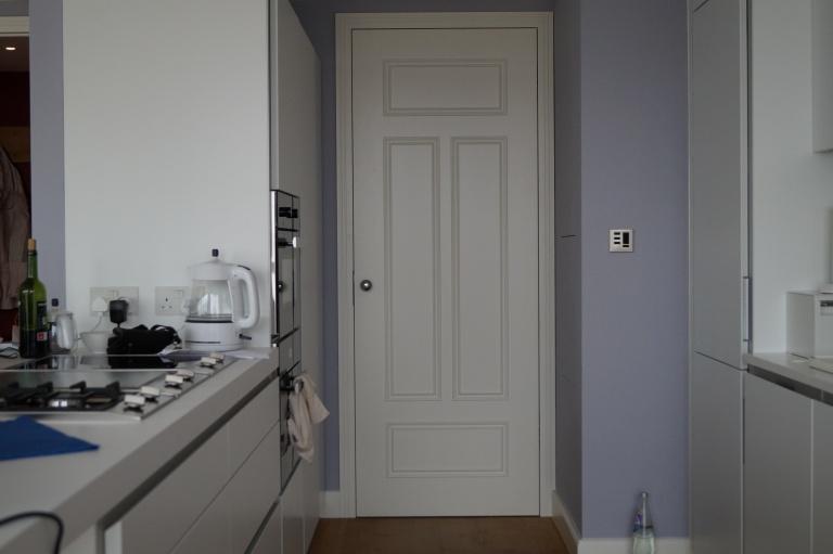 Hand-made white internal doors