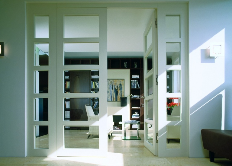 Internal glazed double doors