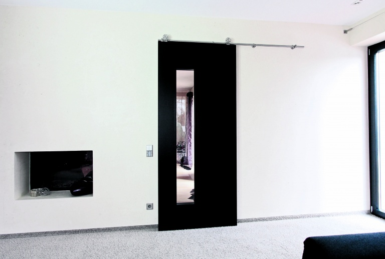 Internal glazed sliding doors