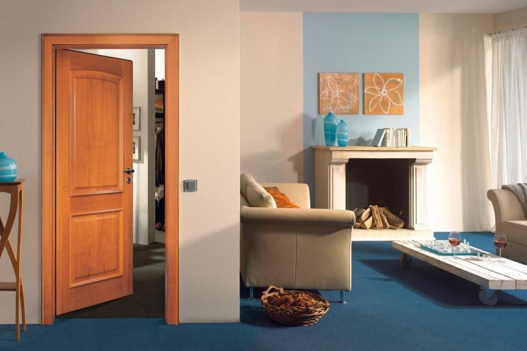 Oak veneer door made to measure