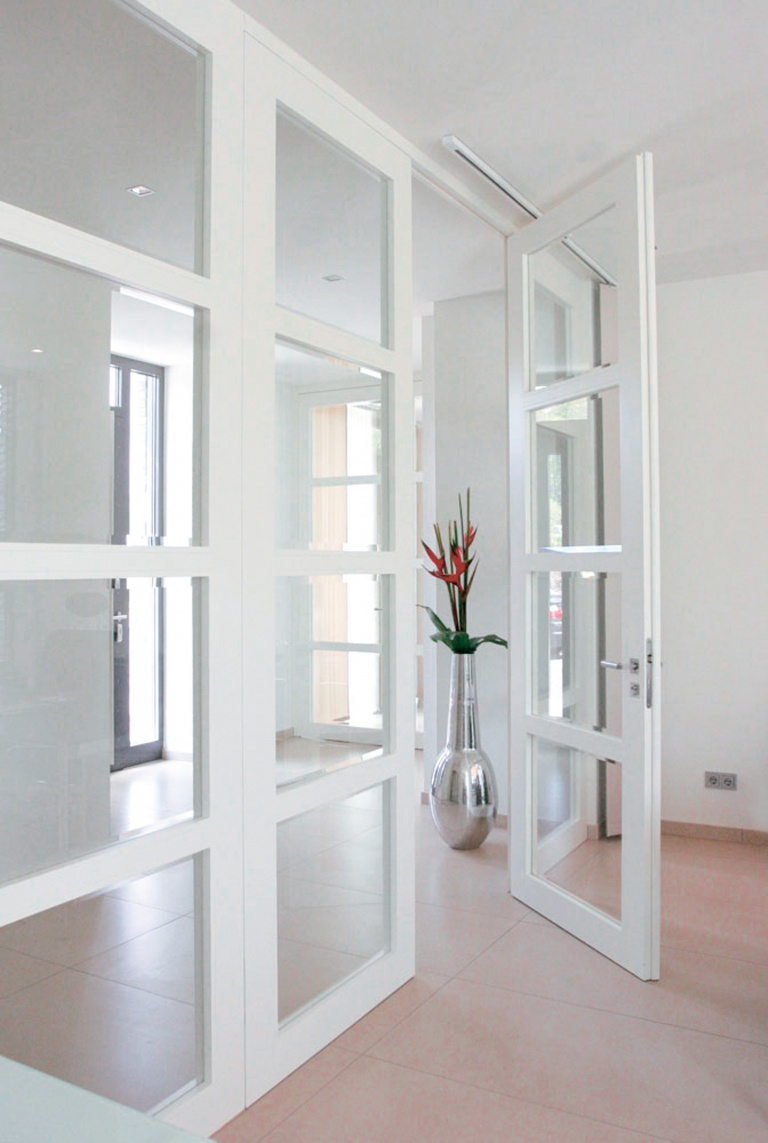White glazed internal doors