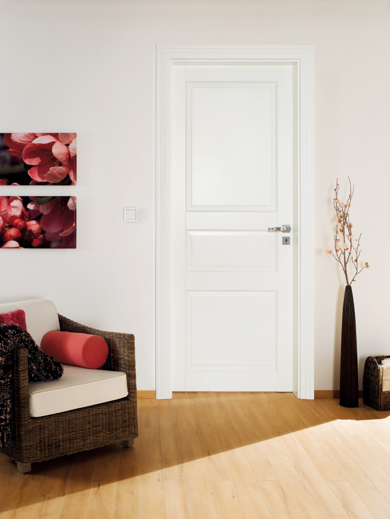 White painted internal door set