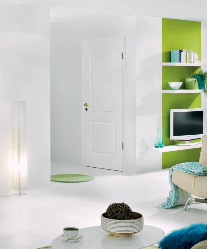 White panel internal door set