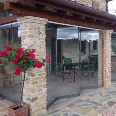folding glass patio doors