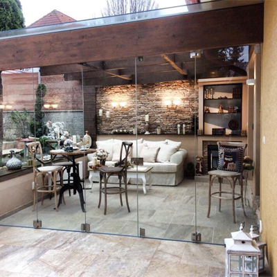 frameless folding glass doors