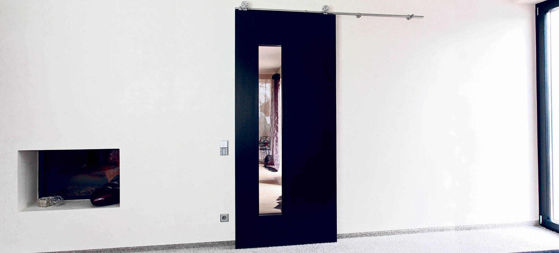 internal glazed sliding- doors